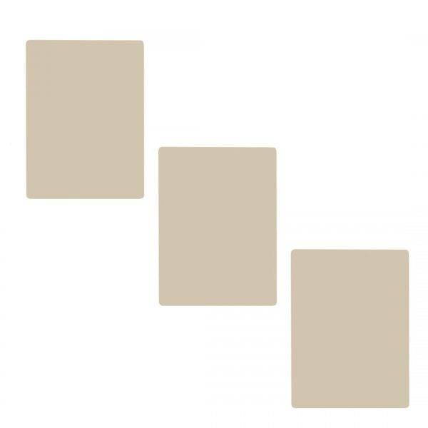 Tris Pelle sintetica bianca